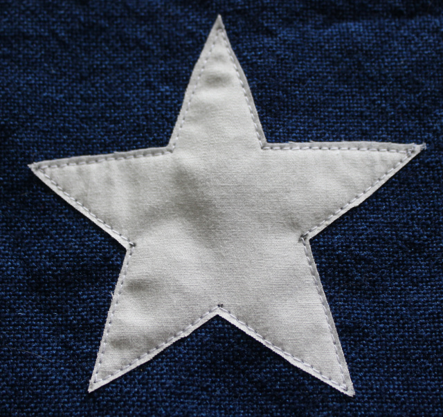 raw edge applique star