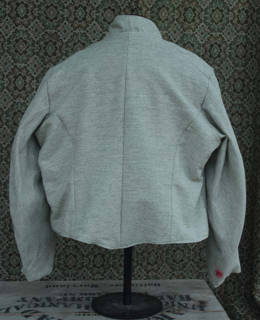 "Size 50 ""Natural light gray"" Jean machine top stitched Commutation Jacket back"