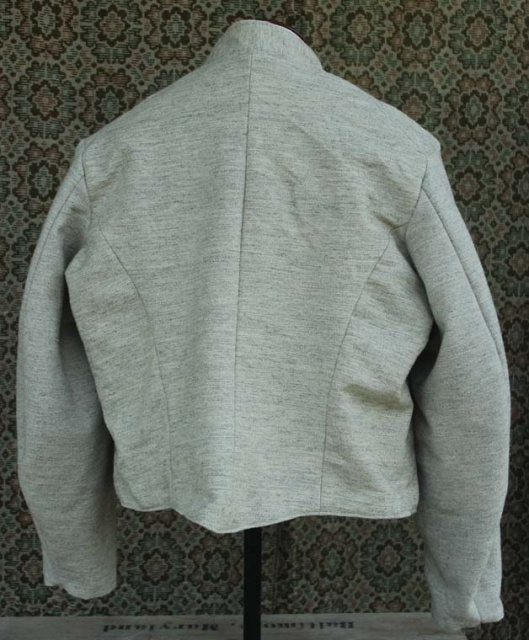 "Size 46 ""Natural light gray"" Jean machine top stitched Commutation Jacket"