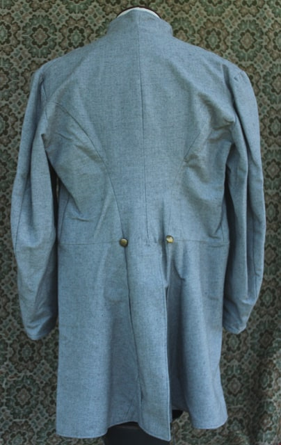 Size 46 medium gray jean frock coat