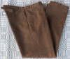 Size 35 blue and yellow on brown variegated Jean Mule Ear Pocket Pant blank